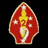 2nd Marine Division Lapel Pin-0