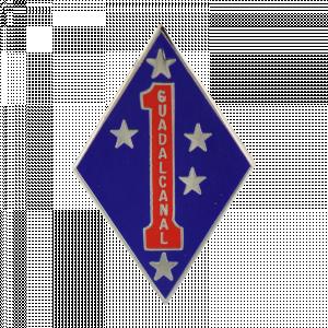 1st Marine Division Lapel Pin-0