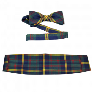 Official USMC Plaid Bowtie and Cummerbund Set