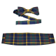 Official USMC Plaid Bowtie and Cummerbund Set