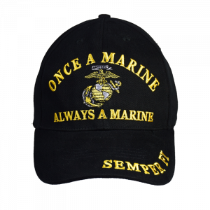"""Once a Marine"" Black Baseball Cap-0"