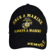 """Once a Marine"" Black Baseball Cap-0"