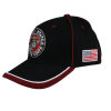 Black USMC Emblem Cap with Red Piping-160118