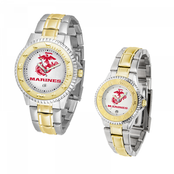 Watch with Two-Tone Band-0