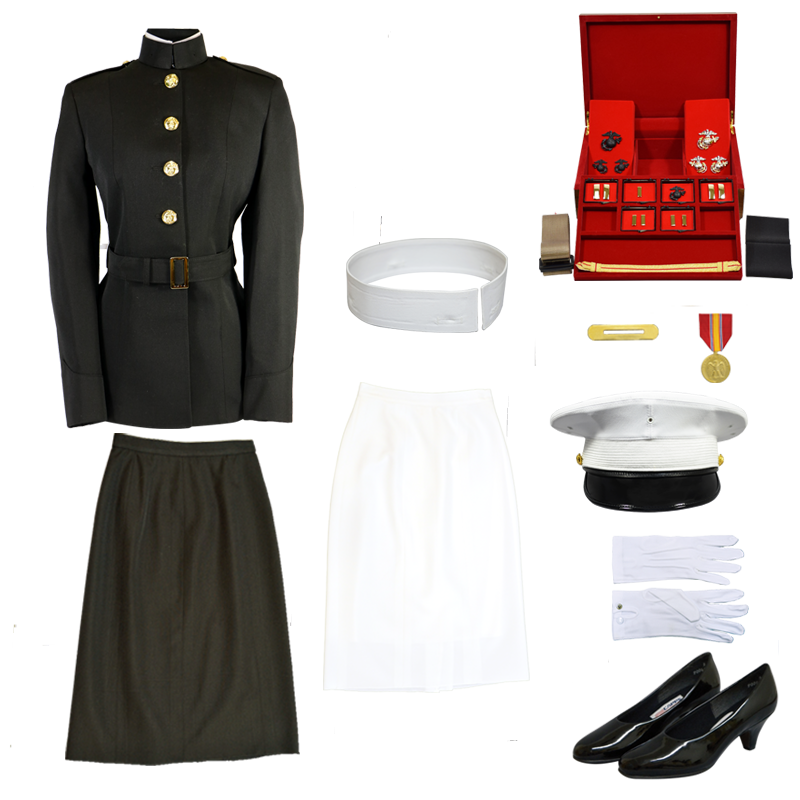 USMC Female Officer Blue Dress Uniform Complete Package
