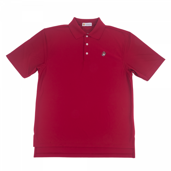 Coolmax Crimson Textured Stripe Polo-0