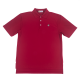 Coolmax Crimson Textured Stripe Polo-0