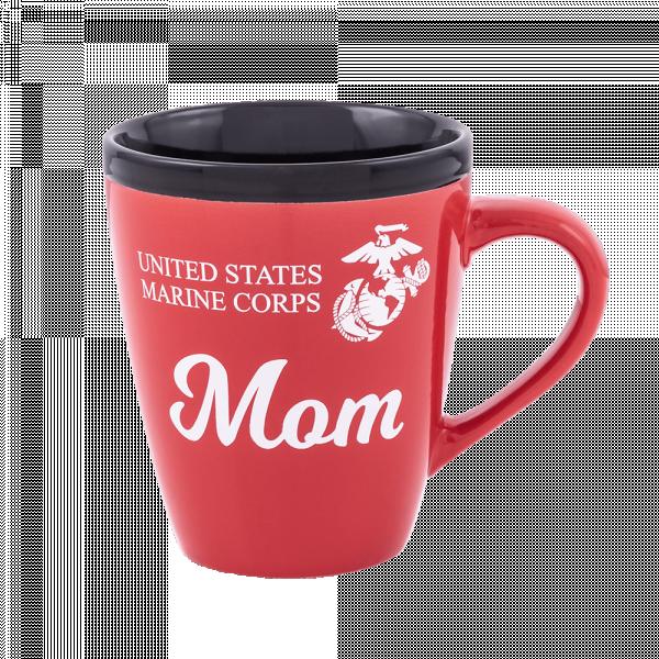 USMC Mom Red & Black Mug-0