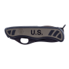 USMC Military Utility Knife Low Profile Black Anodized Elements