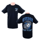 USMC First to Fight Motto Black Unisex Crewneck T-shirt by Frontline Apparel