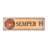 USMC Logo and Semper Fi Motto Pine Novelty Sign