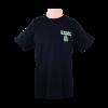 Front design of USMC Dog Tag Design Black T-shirt