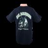 Back design of USMC Dog Tag Design Black T-shirt