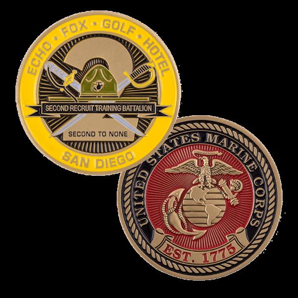 2nd Recruit Battalion San Diego Coin-0