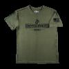 """Marines"" Warrior Tek OD Green Performance T-shirt with US Flag on Sleeve"