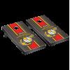 USMC EGA with Vertical Stripe Cornhole Complete Game Sets in Onyx Black Stain Finish