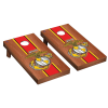 USMC EGA with Vertical Stripe Cornhole Complete Game Sets in Rosewood Stain Finish