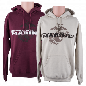 Marine Corps Hoodie featuring the Eagle, Globe, and Anchor-0
