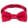 Pre-tied red satin bow tie.